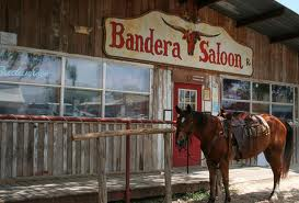 Texas Hill country Bandera cowboy saloon