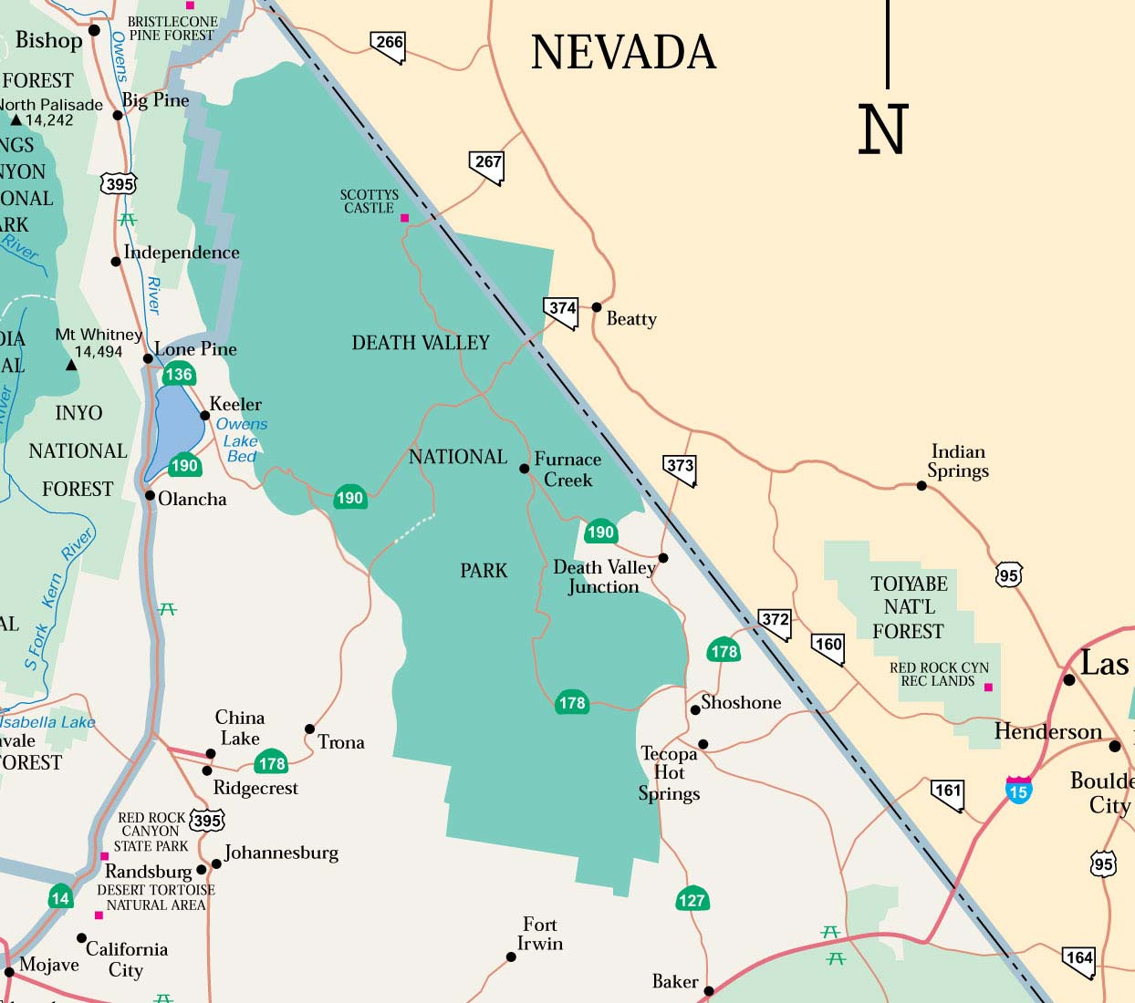 Desert Population Area Km Million Acres Largest City Palm Us Map California And Nevada