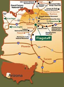 Flagstaff Visit All Northern Arizona Arizona America Visit - Map of northern arizona