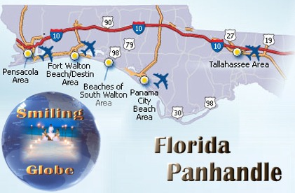 Map Of Florida Panhandle Hotels.Florida Panhandle Population 1 210 233 Area Km2 Largest City