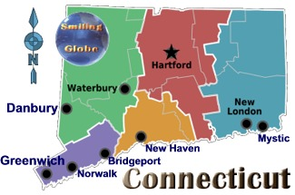Connecticut region map