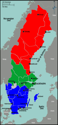 Sweden region map