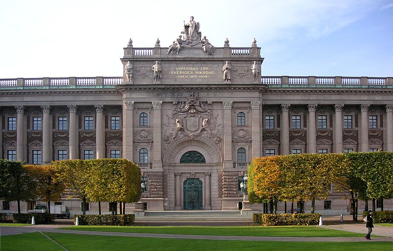 Swedish Parlement Stockholm