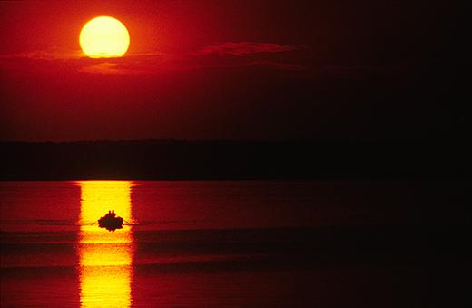 Solnedgang over Furesø